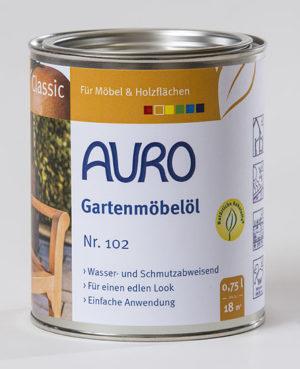 AURO Gartenmöbelöl Nr. 102 0,75l - Naturfarben