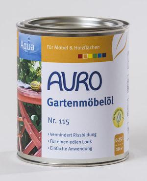 AURO Gartenmöbelöl Nr. 115 0,75 l - Naturfarben