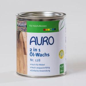 AURO 2 in 1 Öl-Wachs PurSolid Nr. 128 0,75 l