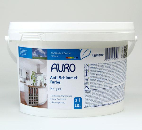 AURO Anti-Schimmel-Farbe Nr. 327 1 l - Ökologische Naturfarben