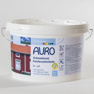 AURO Schwedenrot Holzfassadenfarbe Nr. 148 2,5 l - Ökologische Naturfarben