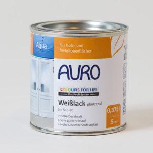 AURO COLORS FOR LIFE Weißlack glänzend Nr 516-90 0,375 l - Ökologische Naturfarben